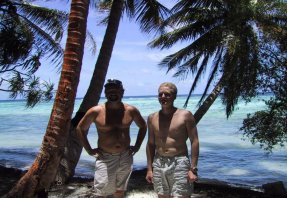 Perry & Spencer on Falaus Island